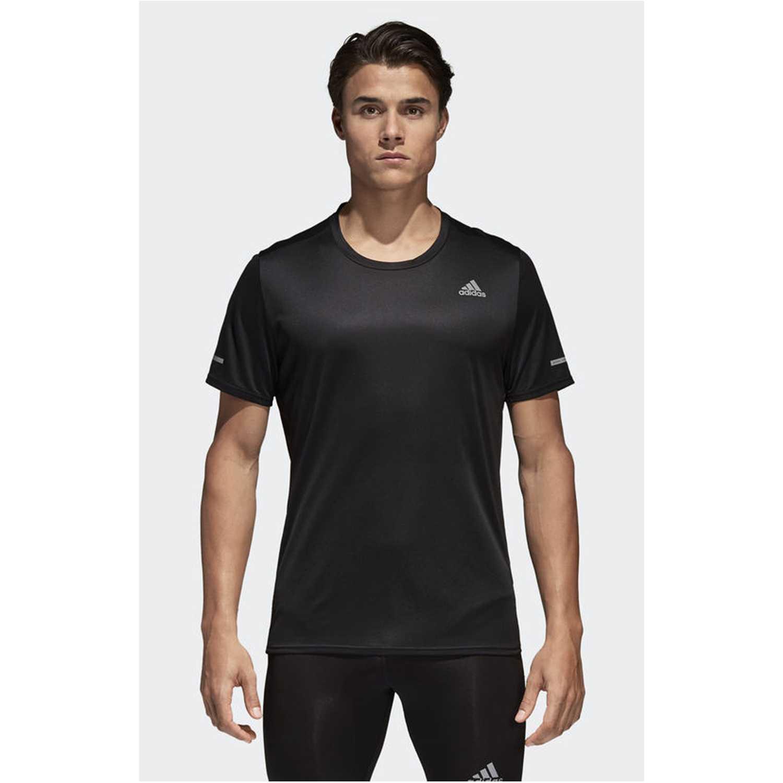 Adidas RUN TEE M Negro Camisetas y Polos Deportivos
