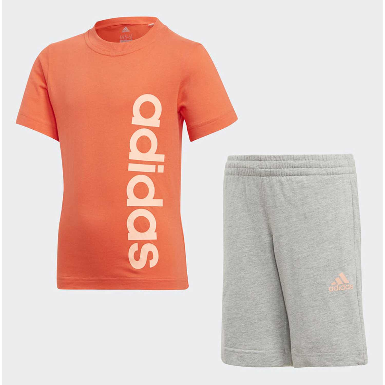 Buzos de Jovencito Adidas Coral / gris lk lin sum set
