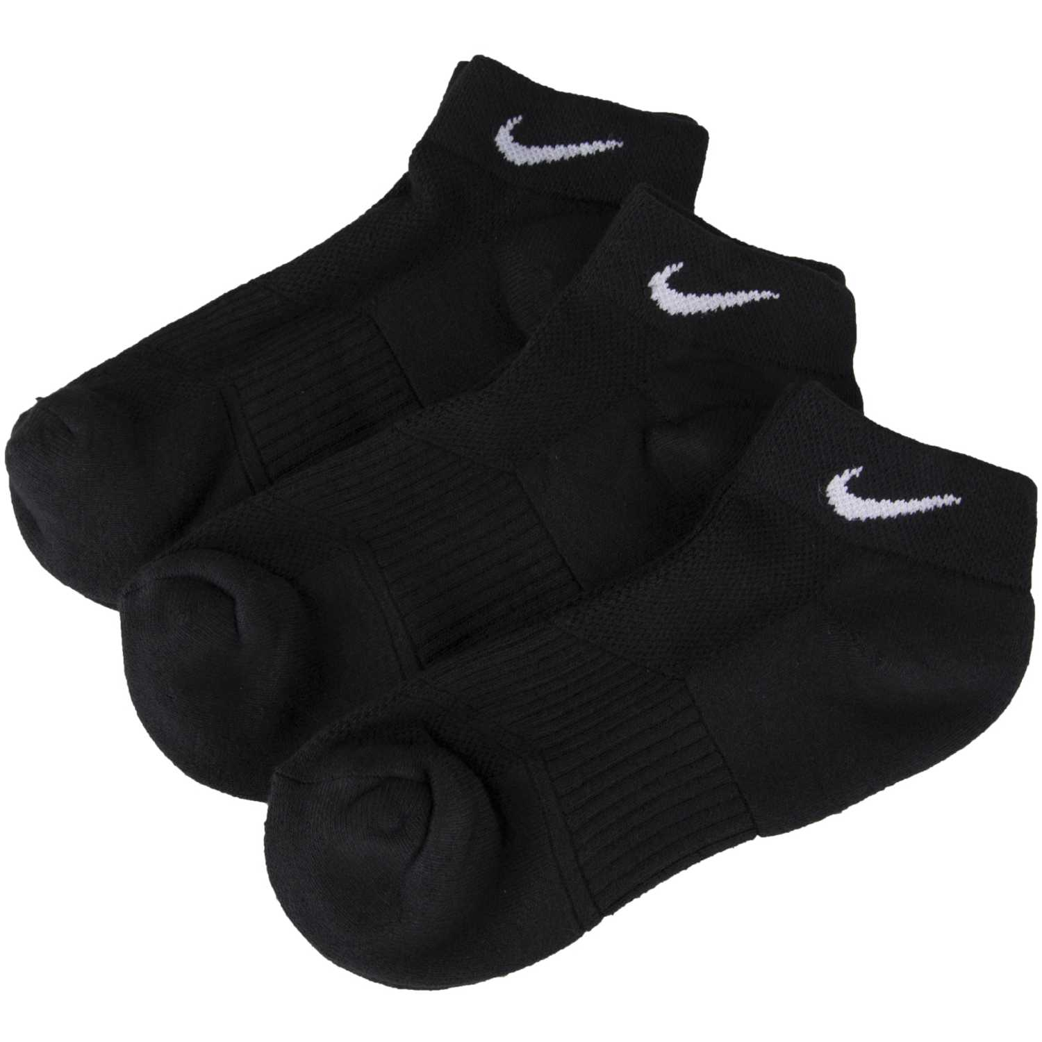 Nike 3PPK WMNS COTTON CUSHIONED LOW C Negro Medias Deportivas