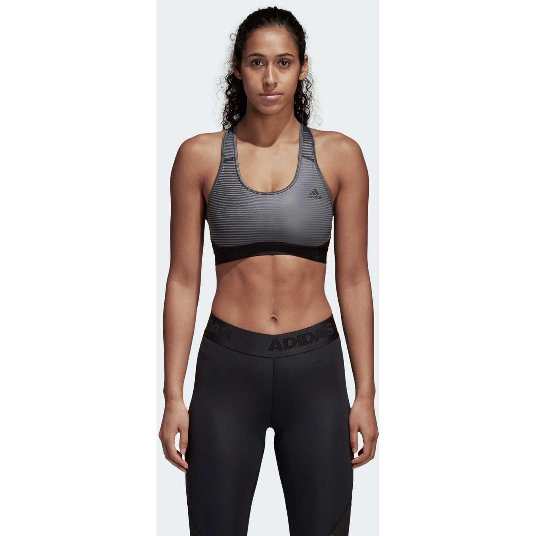 Adidas drst ask spr pr Gris / negro Sujetadores deportivos