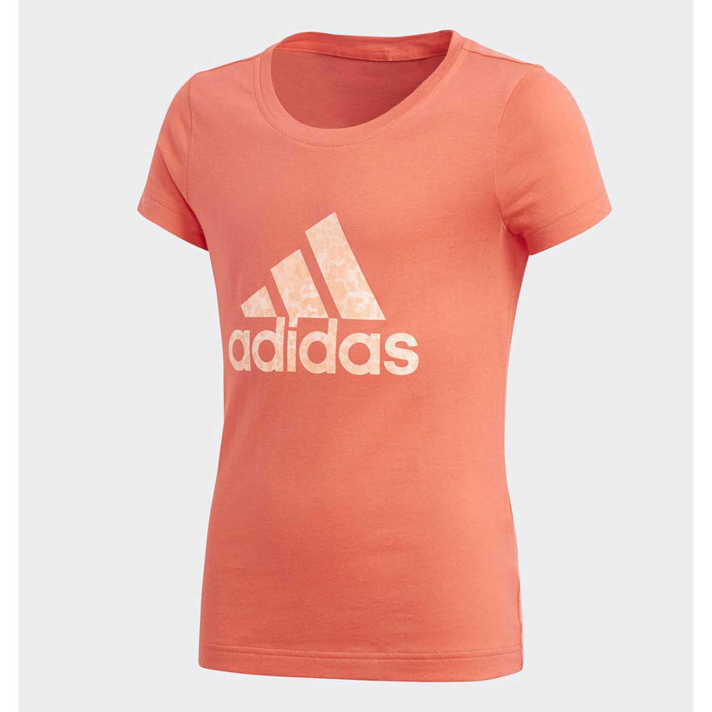 Adidas yg logo tee Coral / blanco Polos