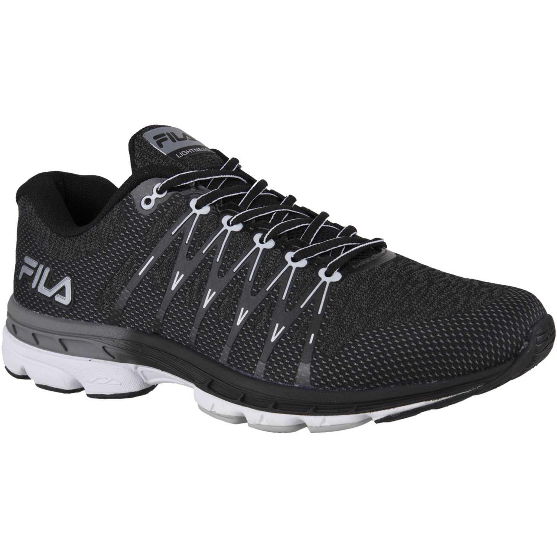 Fila lightness Negro / blanco Running en pista