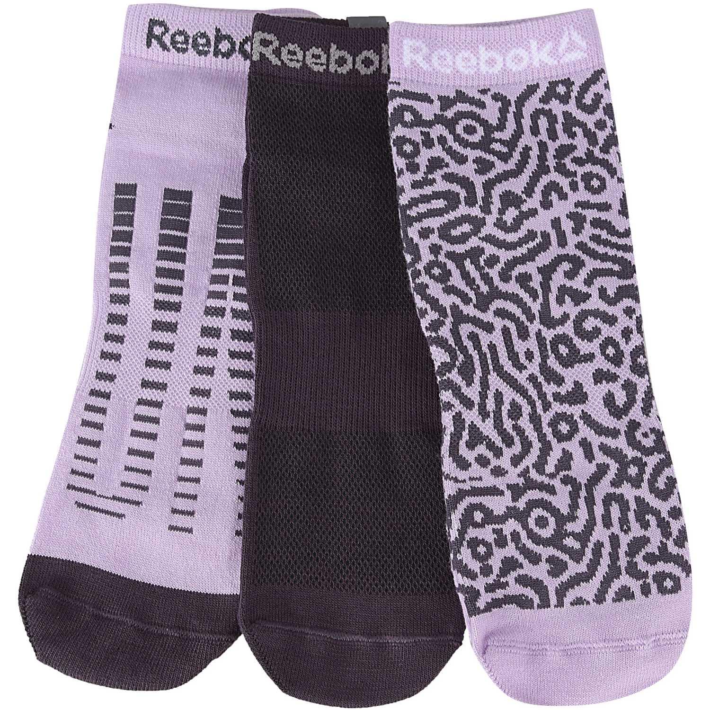 Deportivo de Mujer Reebok Lila / negro run club womens 3p sock (3 pares)