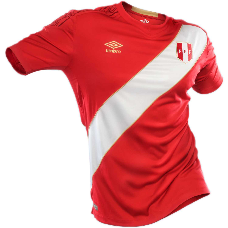 Camiseta de Hombre Umbro Rojo peru away wc jersey s/s