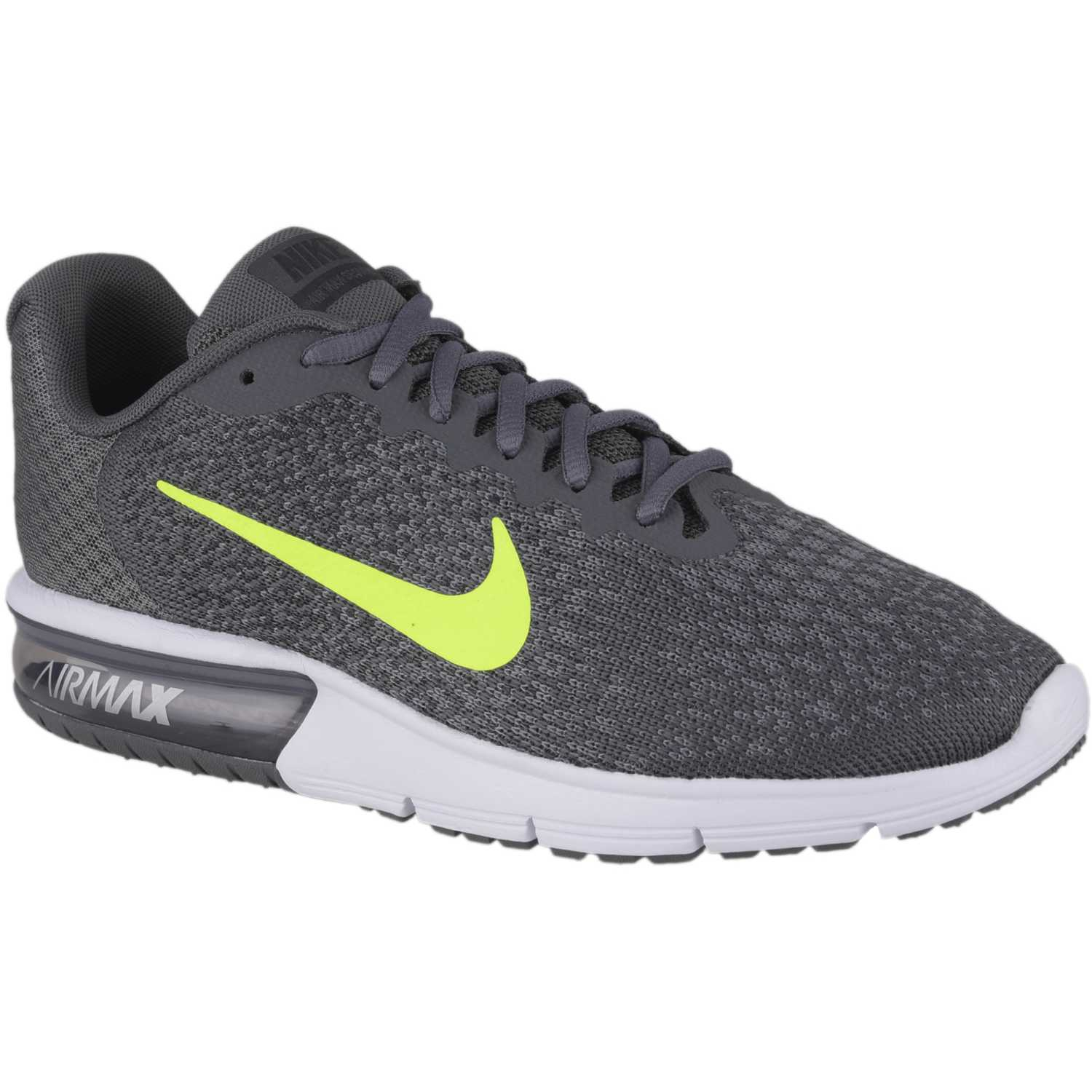 Nike nk air max sequent 2 Negro / limón Running en pista