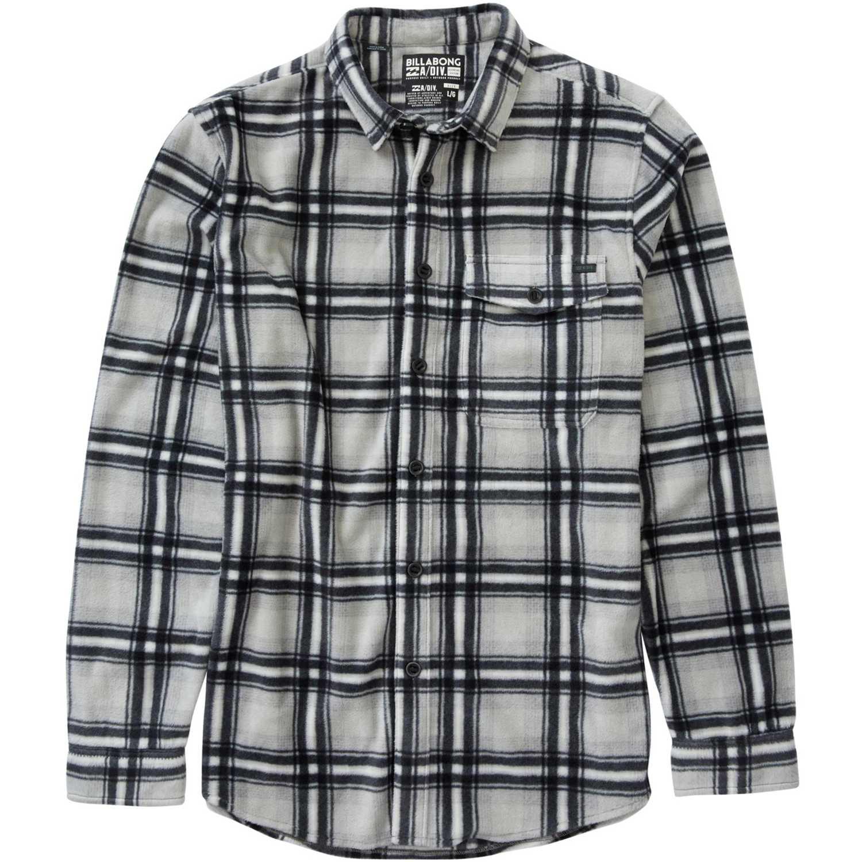 Billabong furnace flannel Negro /gris Camisas de botones