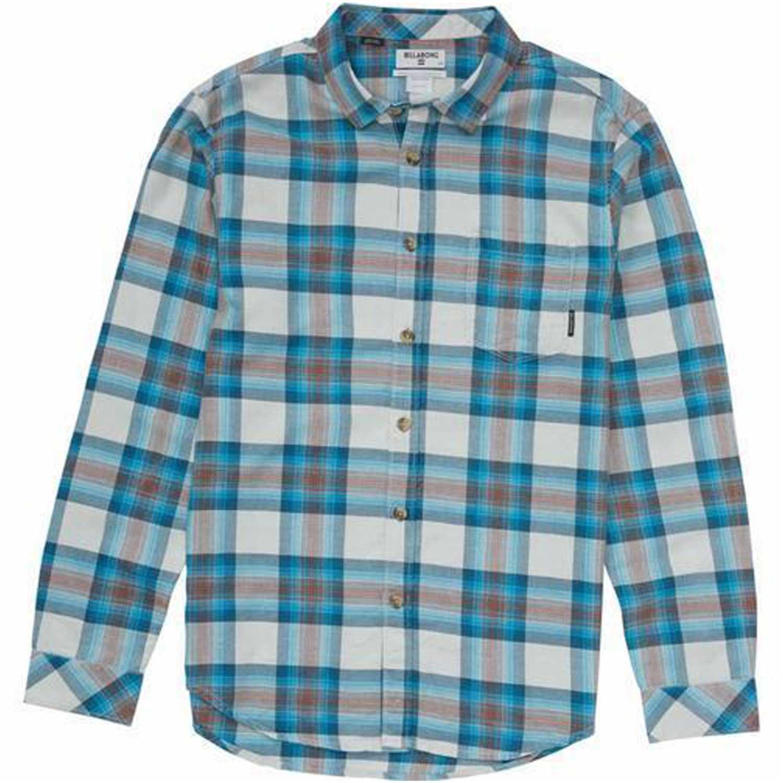Billabong freemont flannel Celeste / gris Camisas de botones