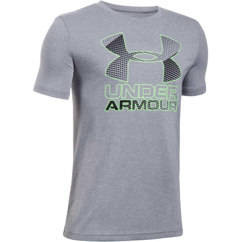 Under Armour big logo hybrid 2.0 ss t Gris / verde