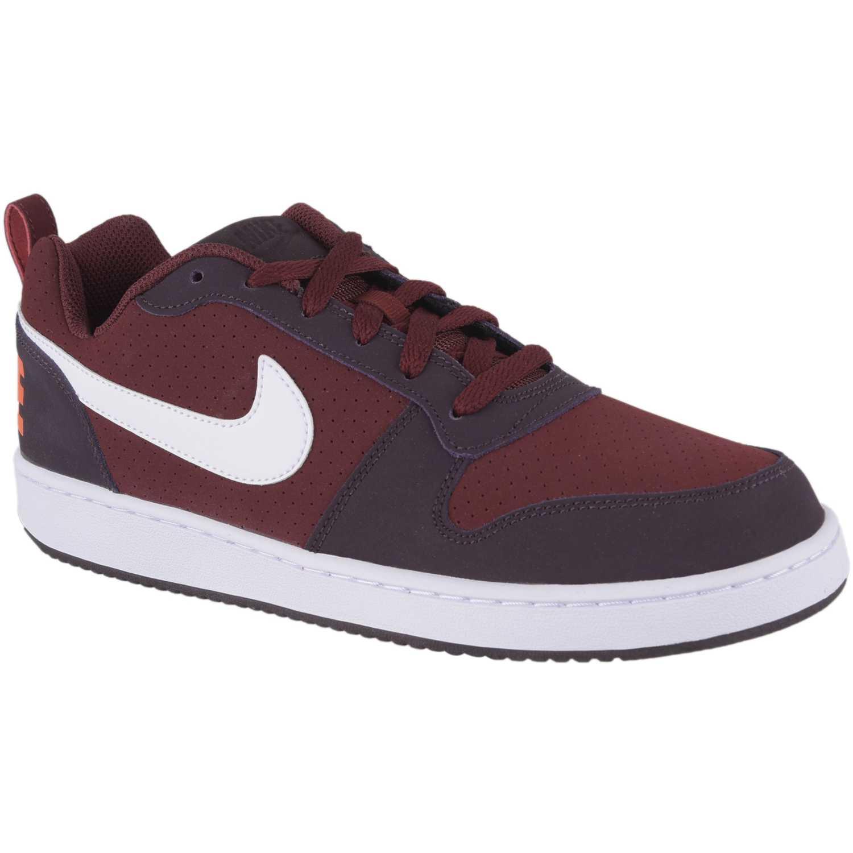 Nike nk court borough low Vino / blanco Walking