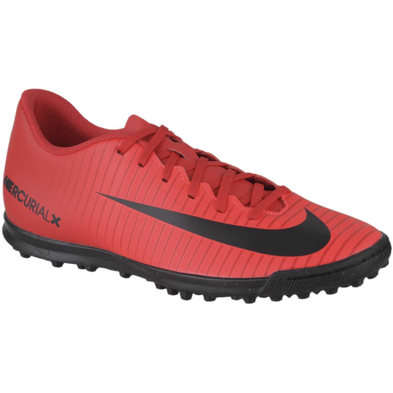 Zapatilla de Hombre Nike Rojo / negro mercurialx vortex iii tf