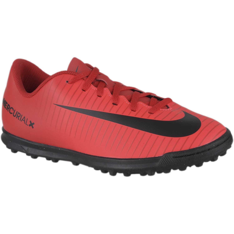 Nike jr mercurialx vortex iii tf Rojo / negro Muchachos