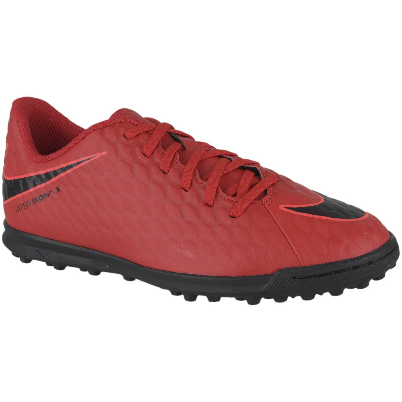 Nike jr hypervenomx phade iii tf Rojo / negro Muchachos