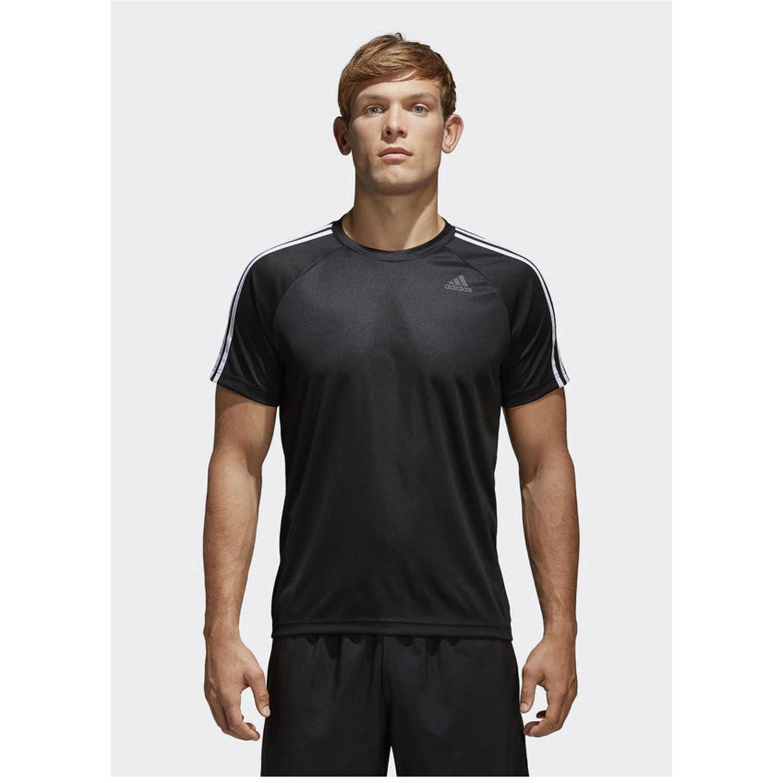 Adidas d2m tee 3s Negro Camisetas y Polos Deportivos
