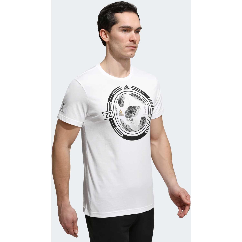 Adidas wc ball Blanco Camisetas y Polos Deportivos