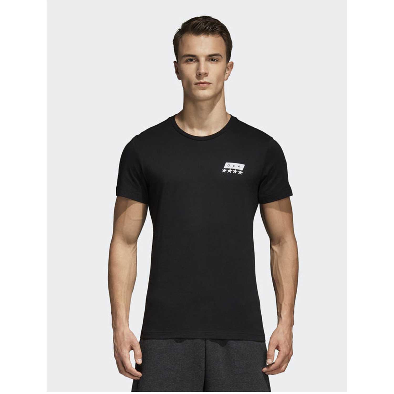 Adidas dfb sgr tee Negro Camisetas y Polos Deportivos