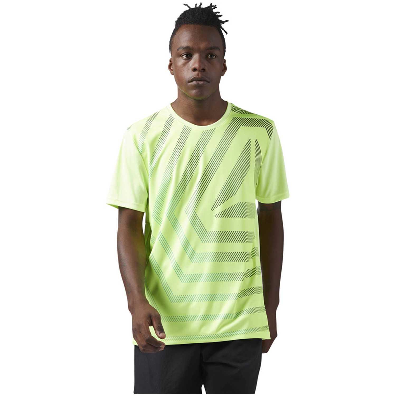 Reebok ss tee Amarillo / gris Camisetas y Polos Deportivos