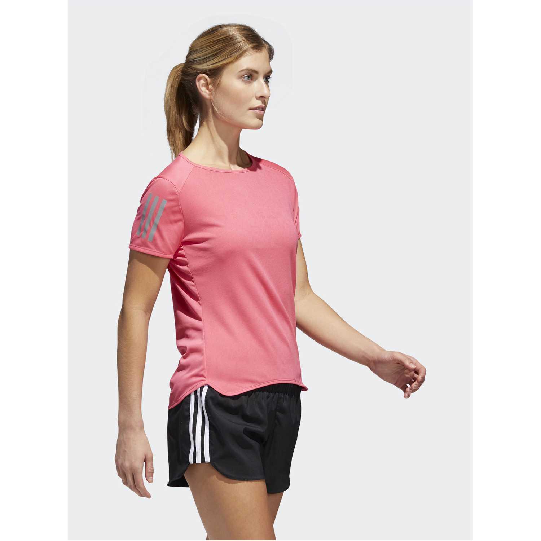 Adidas rs ss tee w Rosado Camisetas y Polos Deportivos