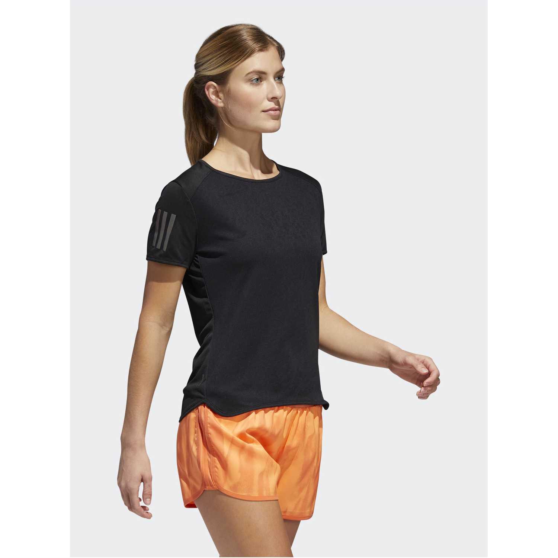 Adidas rs ss tee w Negro Camisetas y Polos Deportivos