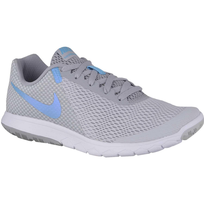 Nike wmns flex experience rn 6 Gris / celeste Running en pista
