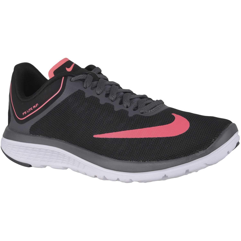 Nike wmns fs lite run 4 Negro / rosado Running en pista