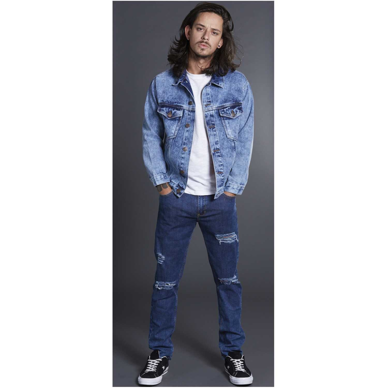 CUSTER rippedm Cristal Jeans