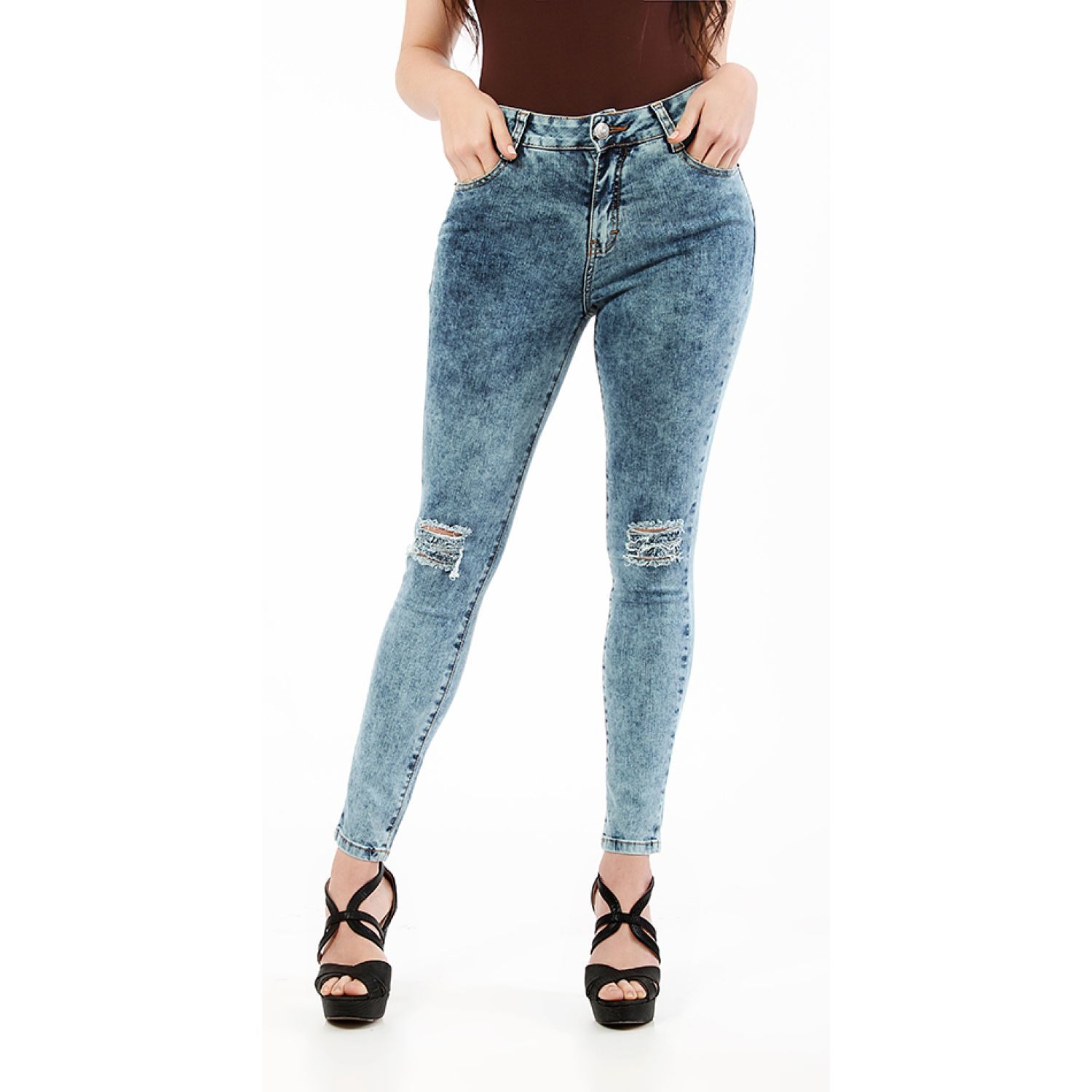 CUSTER Knee W Azul Casual