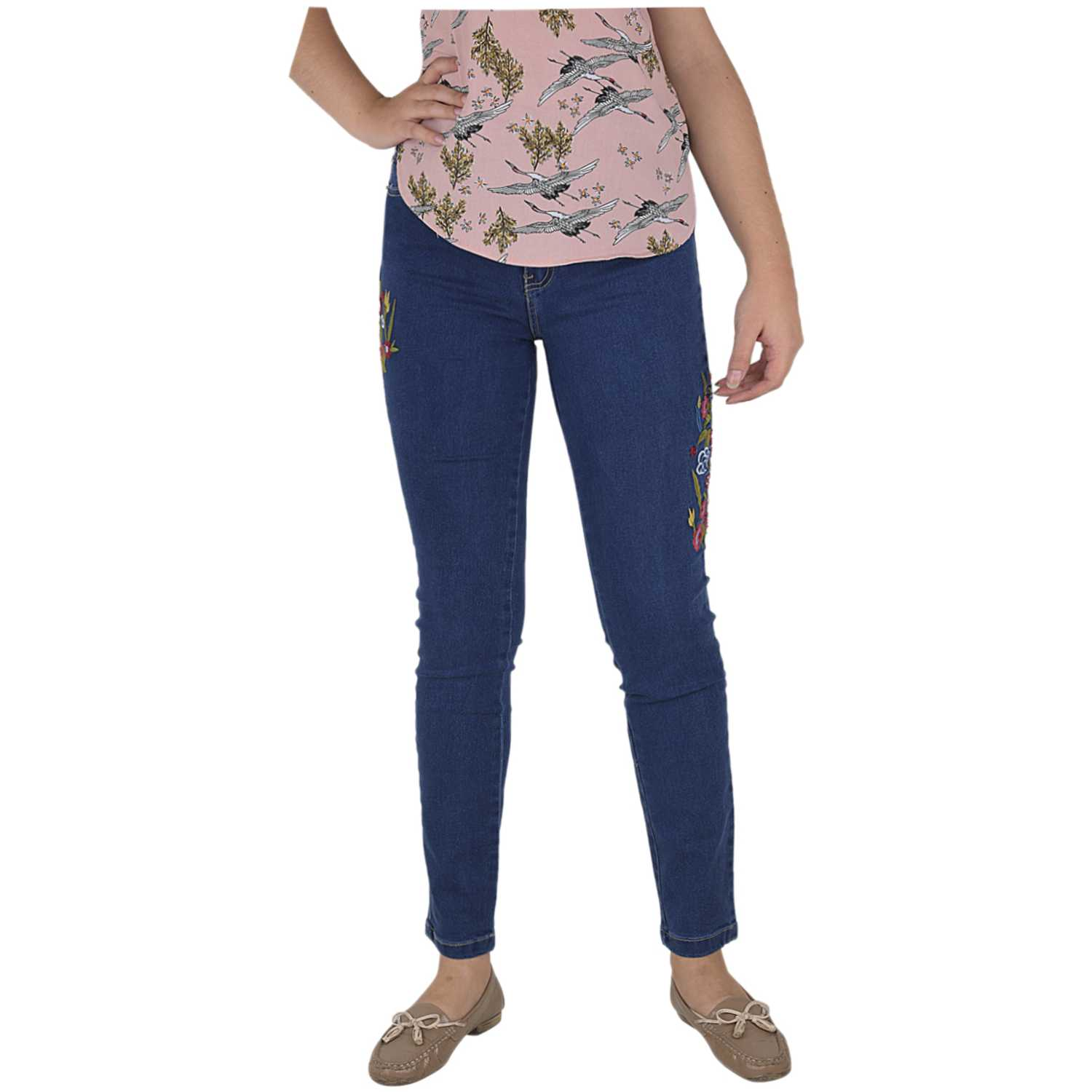 CUSTER Broderiew Azul oscuro Casual