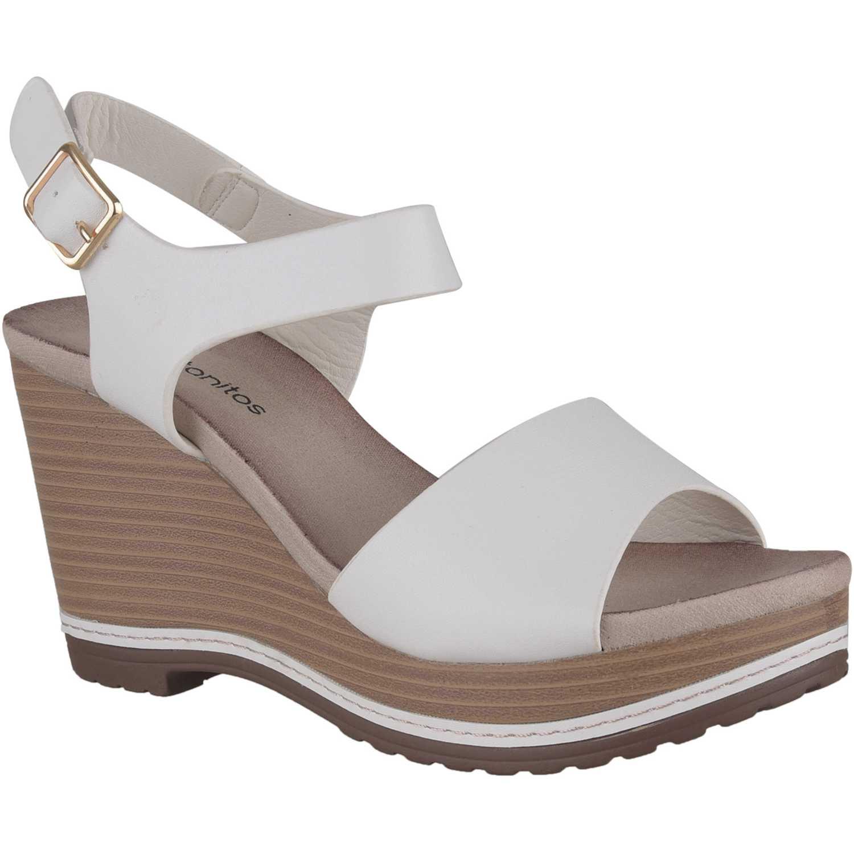 Sandalia de Mujer Platanitos Blanco spw 2042