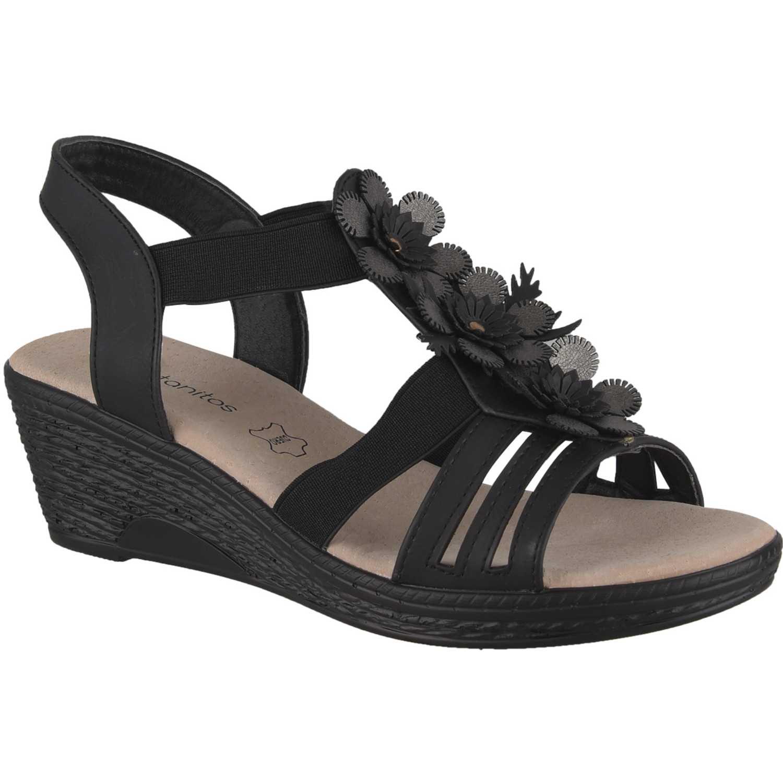 Sandalia de Mujer Platanitos Negro sct mary1