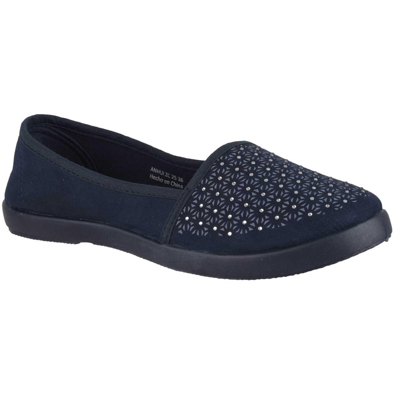 Zapatillas de Mujer Platanitos Azul zc 25