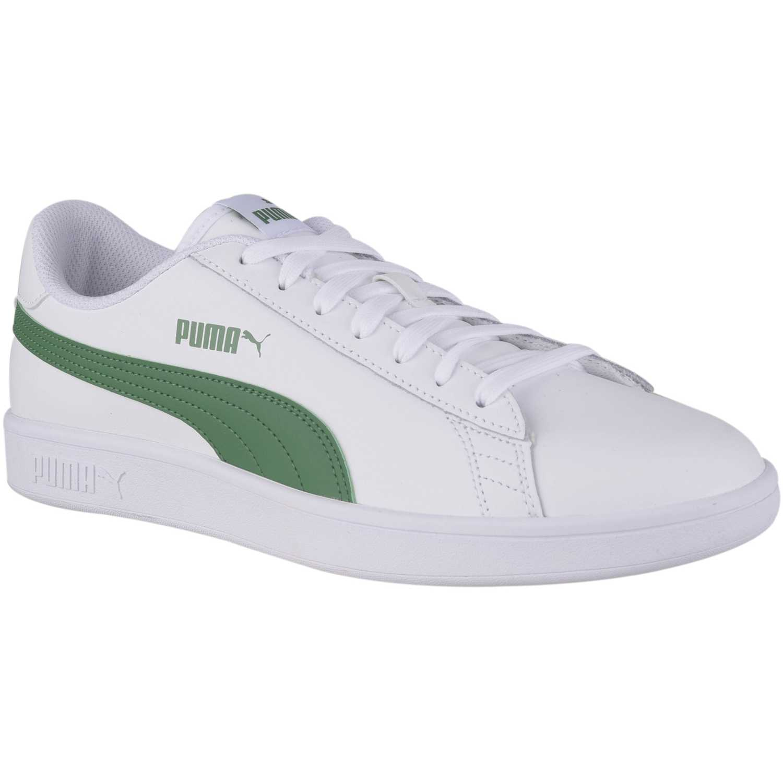 Casual de Jovencita Puma Blanco / verde puma smash v2 l