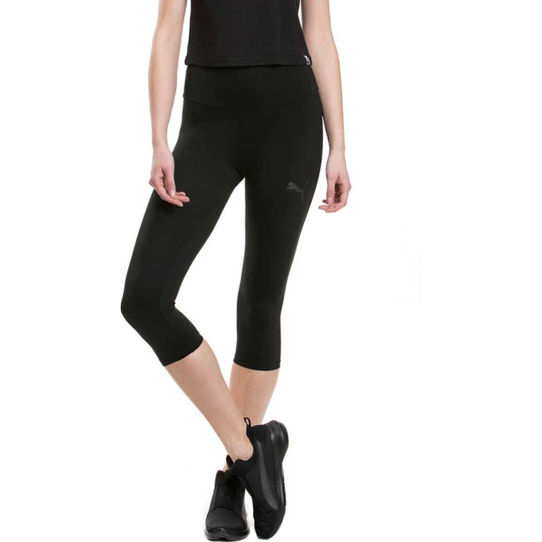 Puma active ess 3/4 leggings w Negro Leggings Deportivos