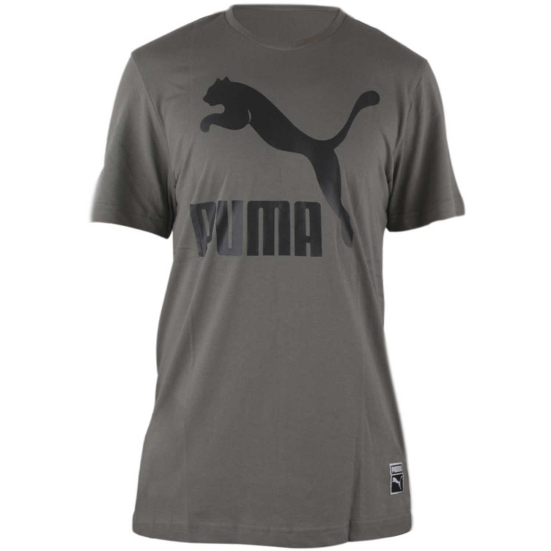 Deportivo de Hombre Puma Gris archive logo tee