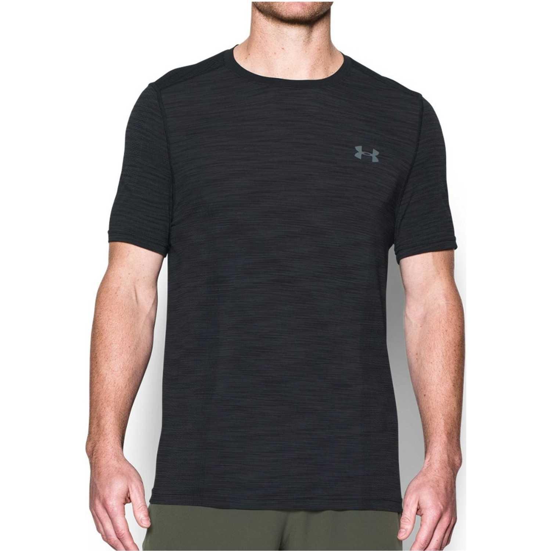 Under Armour Ua Threadborne Knit Ss Negro Camisetas y Polos Deportivos