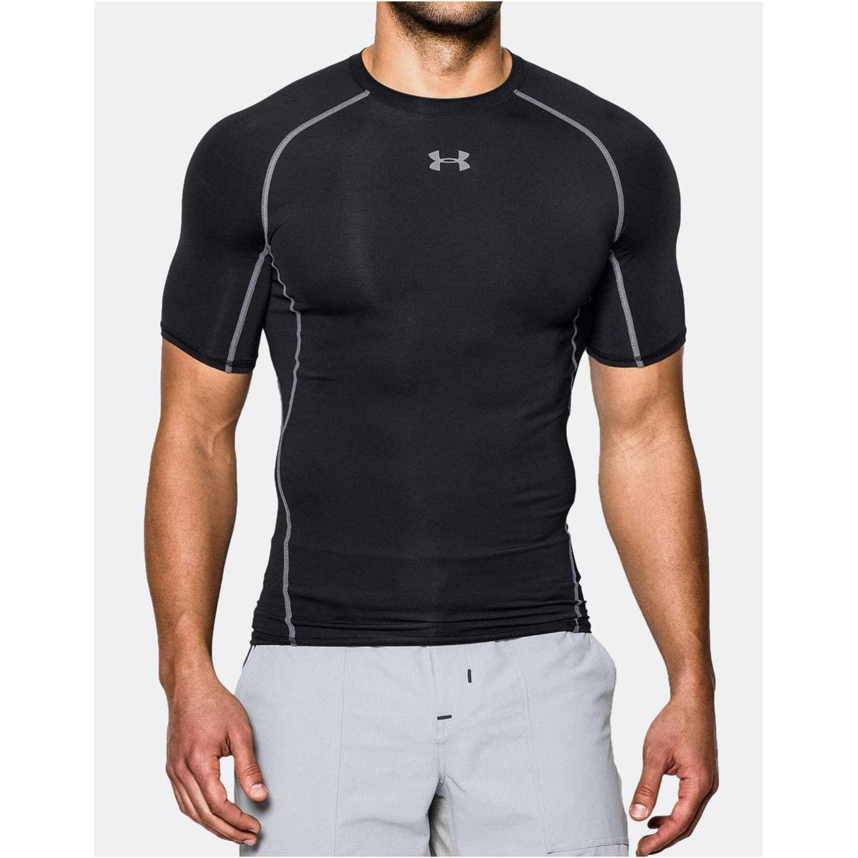 Under Armour ARMOUR HG SS T-BLK//STL Negro Camisetas y Polos Deportivos