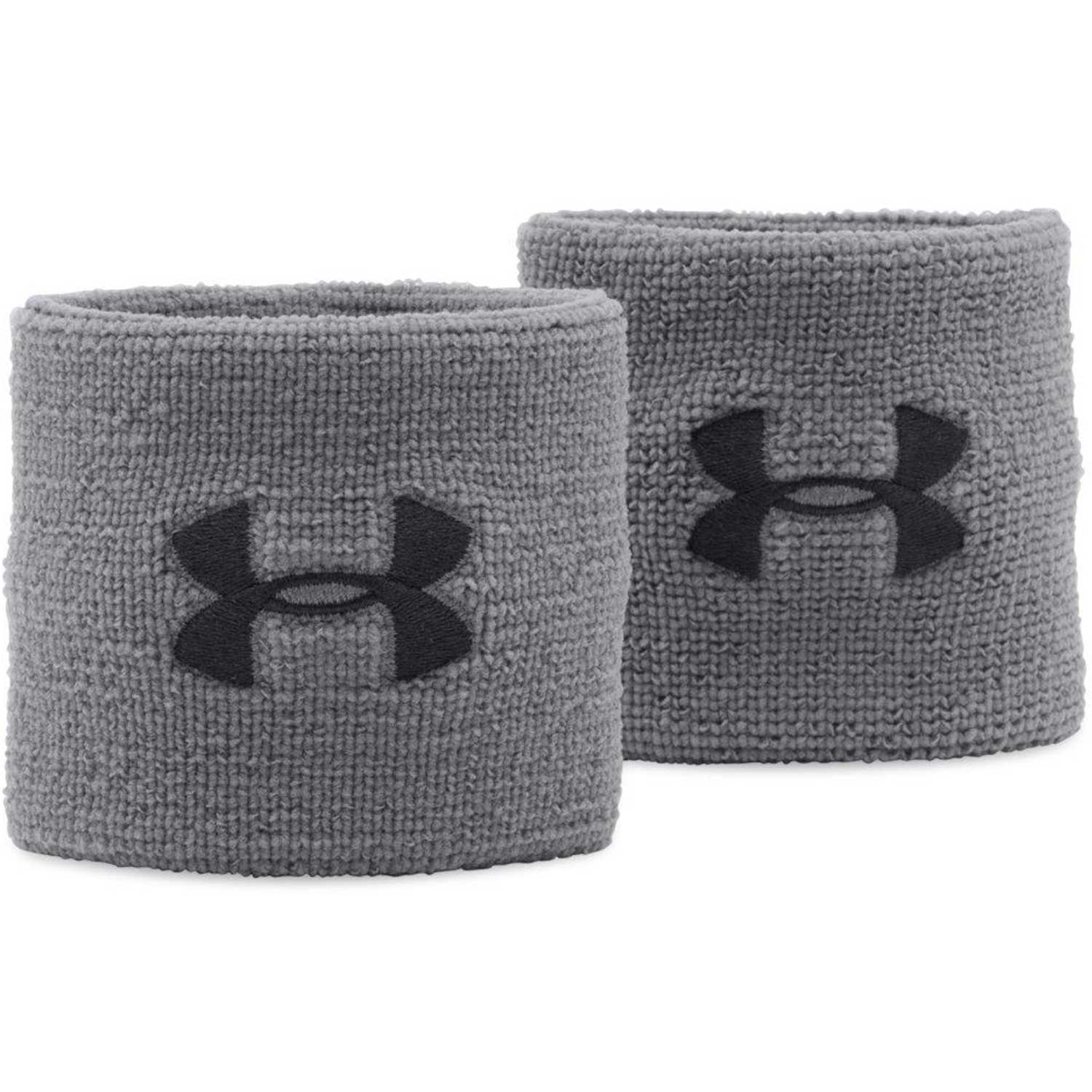 Under Armour ua performance wristbands Gris / negro Vinchas y muñequeras anti sudor