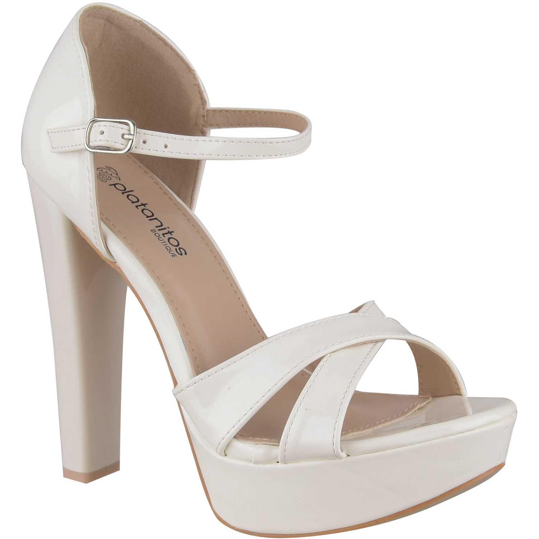 Sandalia Plataforma de Mujer Platanitos Blanco svp 15