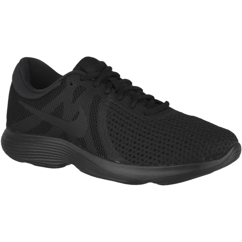 Zapatillas Running Mujer Nike Revolution 4 Negro con Rosa