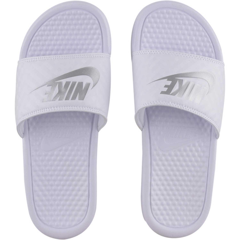 Nike wmns benassi jdi Blanco / gris Sandalias deportivas y slides