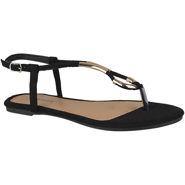 Flat de Mujer Platanitos Negro sf 8930