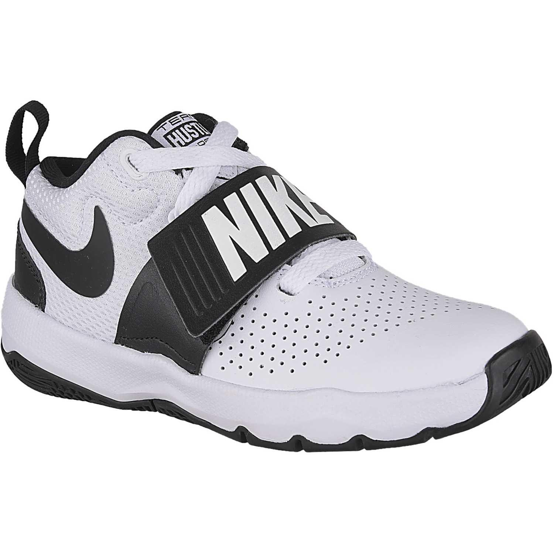 Nike team hustle d 8 bp Blanco / negro Walking