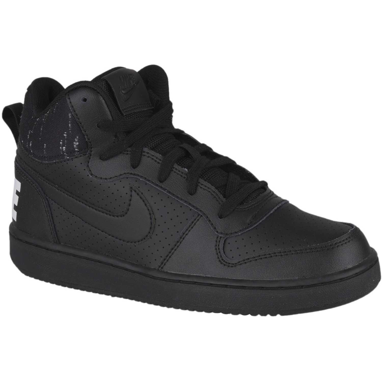 Nike nike court borough mid se bg Negro / blanco Walking