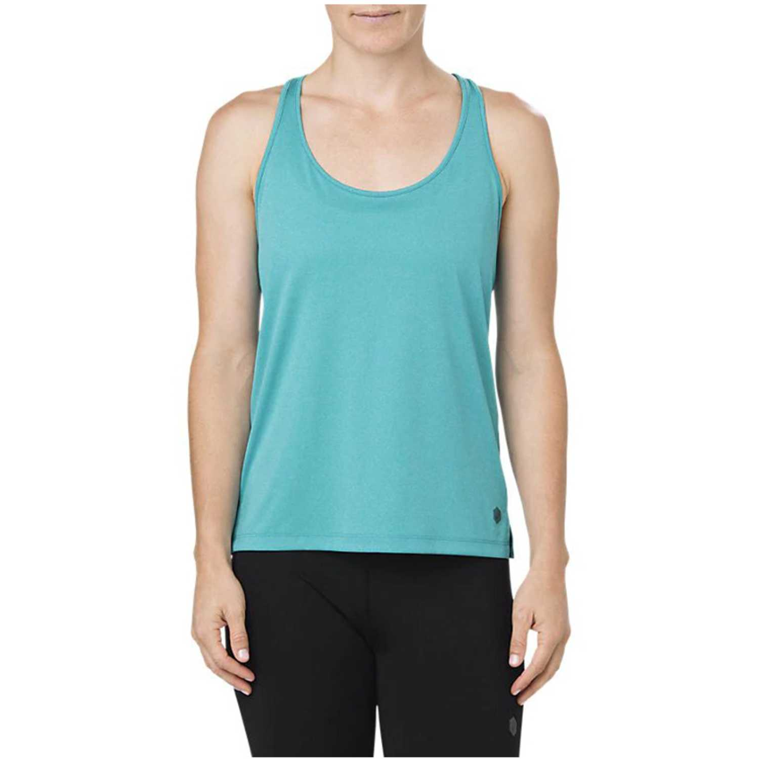 Asics loose tank  lake blue heather Turquesa Tank Tops