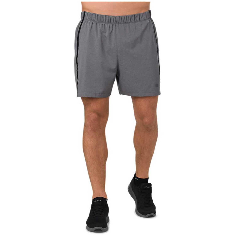 Asics 5in Short  Dark Grey Heather Gris Shorts Deportivos