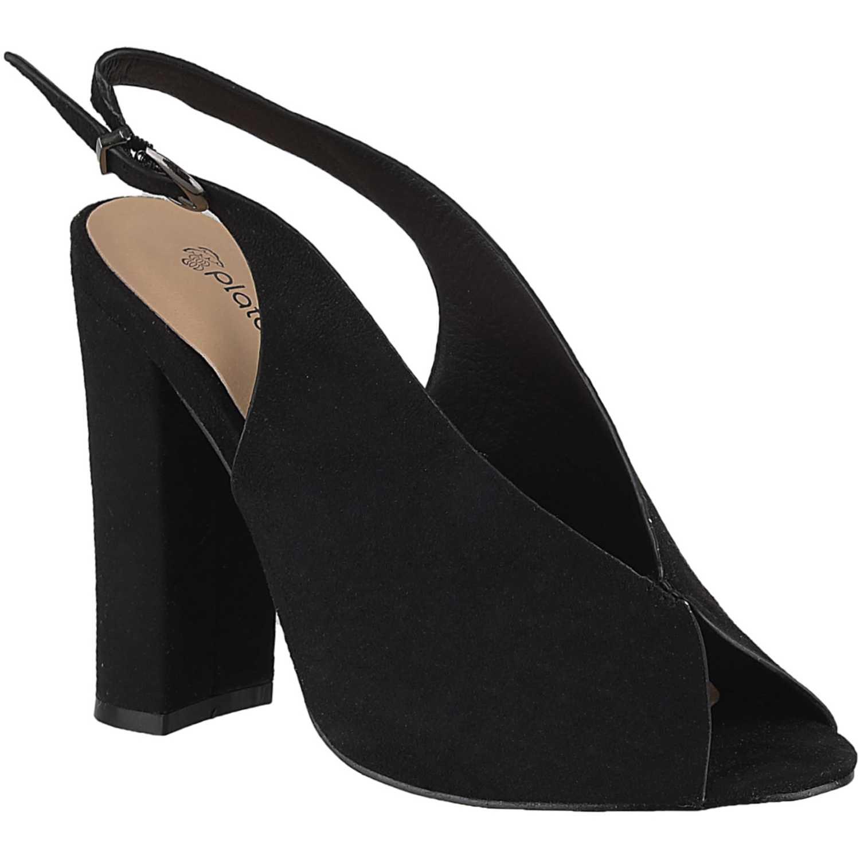 Sandalia de Mujer Platanitos Negro sv 23