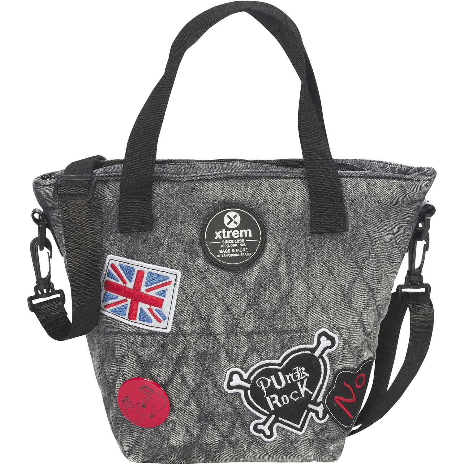 Loncheras de Mujer Xtrem Gris lunch bag grey patches tote 847