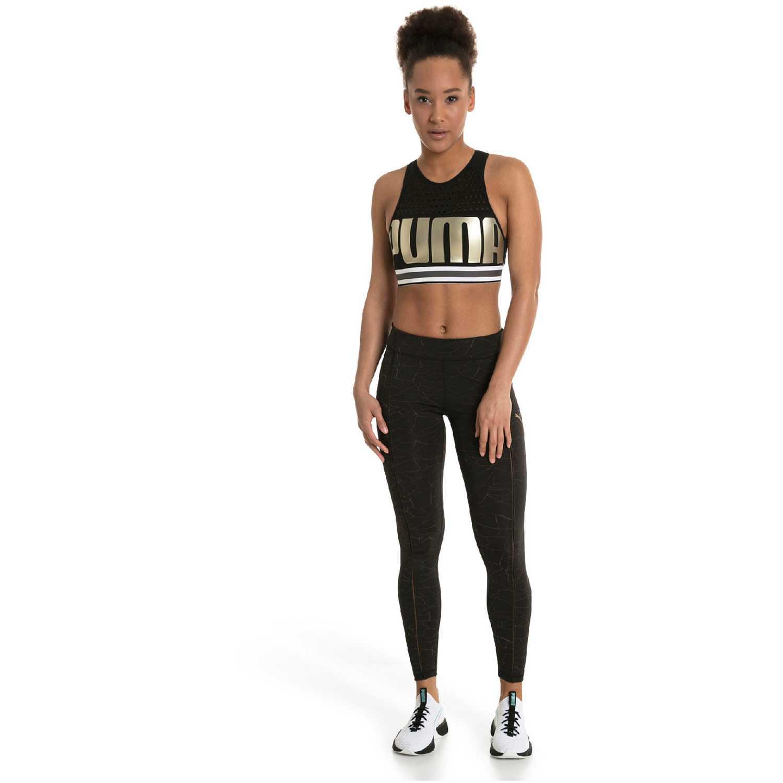 Puma Puma Bra M Negro / dorado Camisetas y polos deportivos