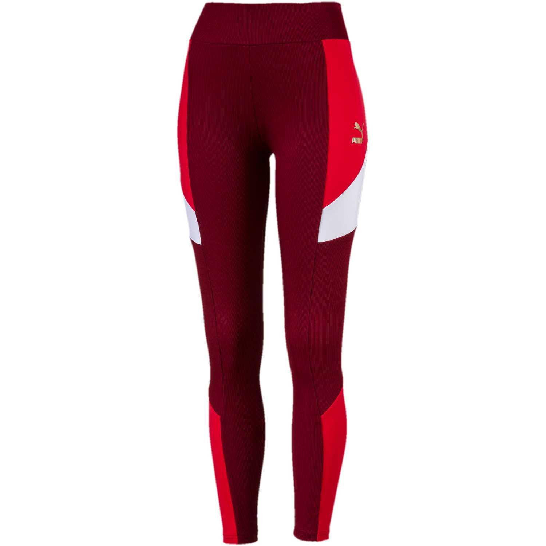 Deportivo de Mujer Puma Rojo / blanco retro rib legging