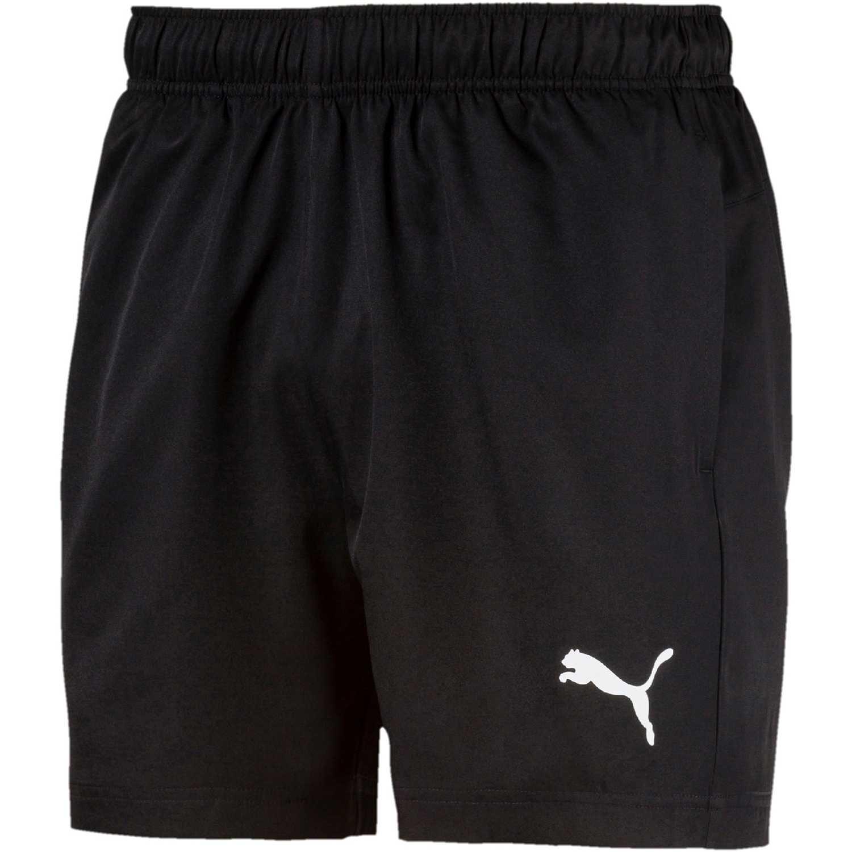 Puma active woven short 5 pulg Negro Shorts Deportivos