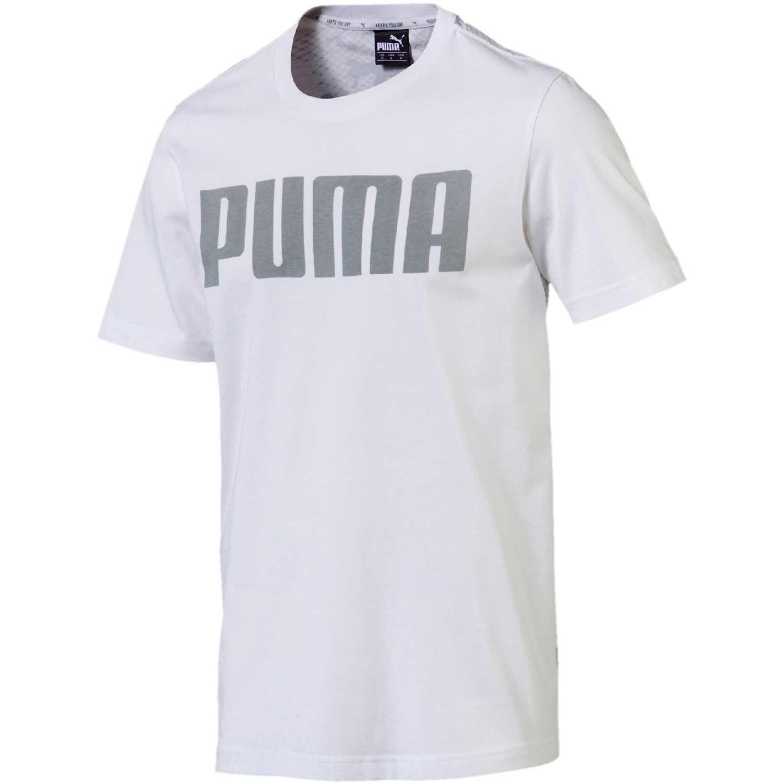 Deportivo de Hombre Puma Blanco / gris modern sports relax tee
